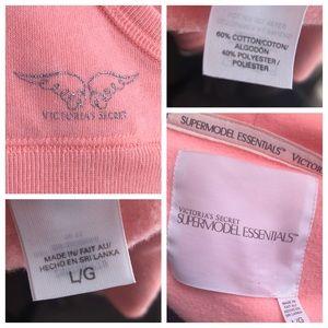 Victoria's Secret Tops - EUC Coral Victoria's Secret Full Zip Hoodie